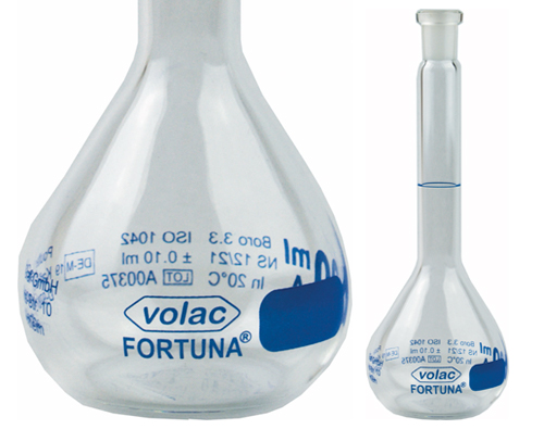 Flasks | VOLAC FORTUNA® Flasks available from Poulten & Graf | Superior Laboratory Products