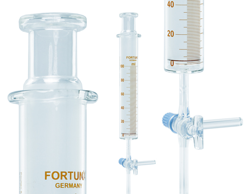 Gas Syringe | FORTUNA® Gas Syringes available from Poulten & Graf | Superior Laboratory Products