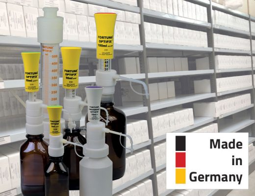 No delivery bottlenecks due to the coronavirus - we deliver our 'Made in Germany' - FORTUNA OPTIFIX bottle top dispensers from stock!